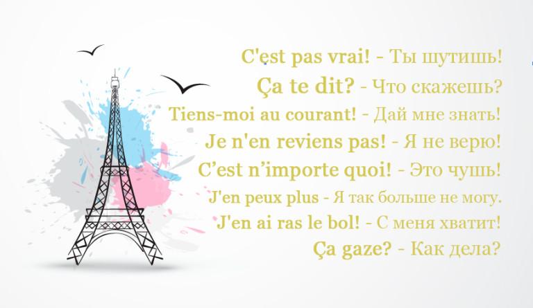 вопросы знакомство французский язык
